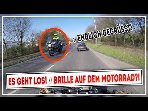 ES GEHT LOS!  // Brille auf dem Motorrad?! | WR125X | MotoVlog #024 | MOTOP