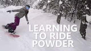 #6 Snowboard intermediate – Learning to ride powder