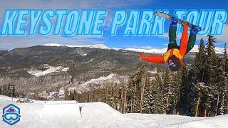 A Tour Through Keystone Colorado's Terrain Park On A Snowboard