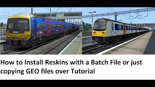 How to Install Reskins with a Batch File or just copying GEO files over Tutorial