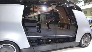 Новый Камаз электромобиль под автопилотом Яндекс связанный с  проект Шатл 2017 - автобус беспилотник