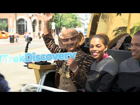 Star Trek: Discovery Fans Take Command Of Captain's Chair Pedicabs