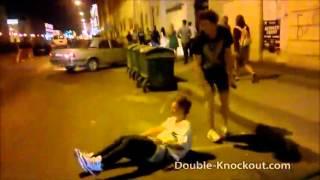 Девушка избила буйного на день ВДВ