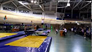 Соревнования по прыжкам на двойном мини-трампе