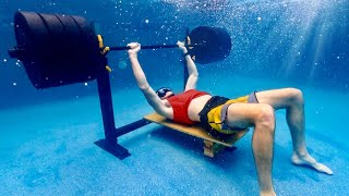 Trying to Bench 405 lbs Underwater   OT 28