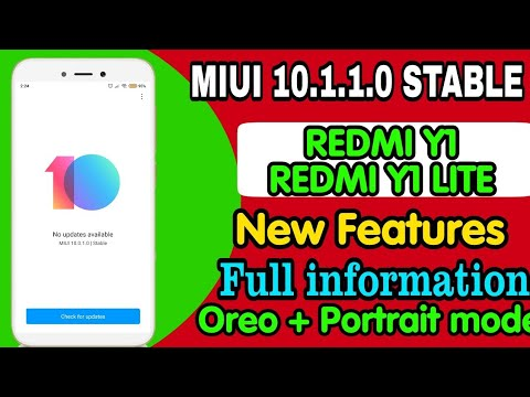 Miui 10 1 1 0 update | Redmi Y1/ Y1 lite miui 10 1 1 china