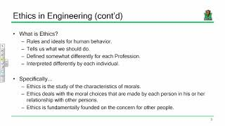 ENGR 452 Lecture 04:  Engineering Ethics (2017.09.13)