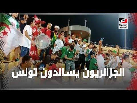الجزائريون يساندون منتخب تونس في مباراته أمام نيجيريا بـ«ستاد السلام»