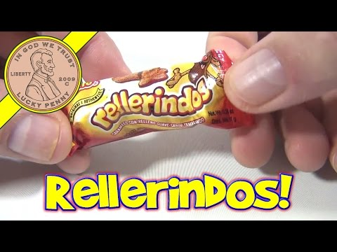 Rellerindos Duices Vero Tamarind Flavor Hard Candy Soft Center - Mexican Candy Tasting