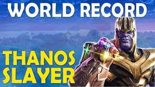 NEW WORLD RECORD TIE | MOST THANOS KILLS IN A GAME | BUILD BATTLES   (Fortnite Battle Royale)