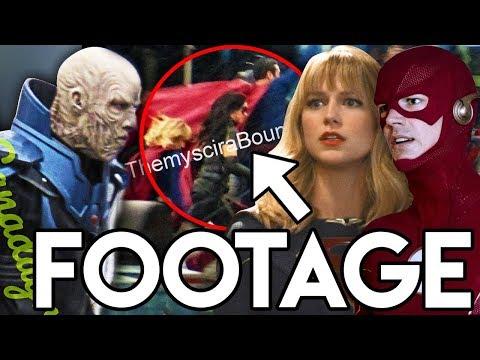 Crisis on Infinite Earths Crossover LEAKED FOOTAGE - EVERY Hero vs Anti Monitor Breakdown