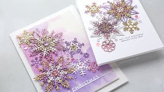 Holiday Card Series 2018 - Day 3 - Glitter Snowflake Cards