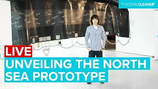 Boyan Slat unveils The Ocean Cleanup Prototype