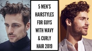 5 Men's Hairstyles For Guys With Wavy And Curly Hair | Mens Hair 2019