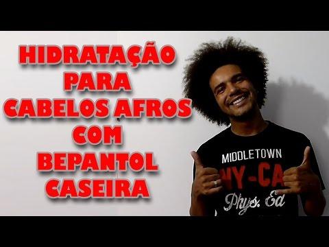 HIDRATAÇÃO CASEIRA CABELOS AFROS MASCULINO COM BEPANTOL / PROBENTOL