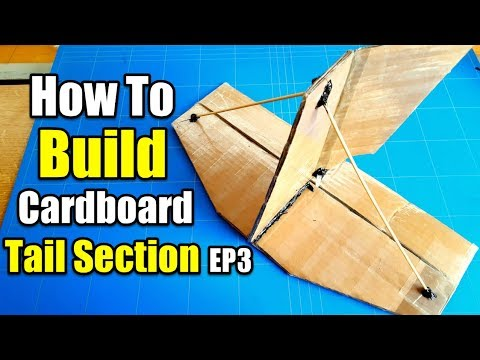 $5 Trainer Best Beginner Rc Airplane Project EP3 [Tail Section Build With Cardboard]