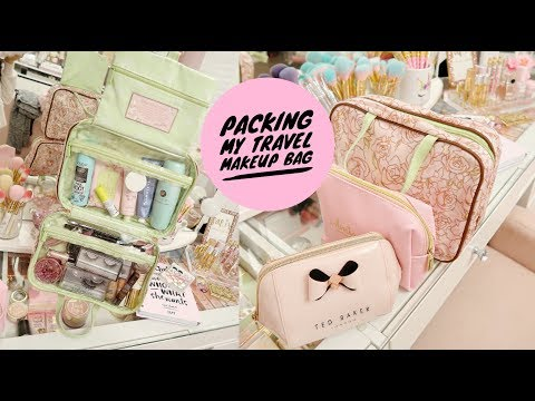 PACK WITH ME! TRAVEL BEAUTY ESSENTIALS💕