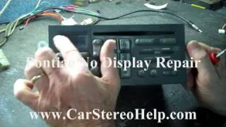 Pontiac Car Stereo Repair - No Display