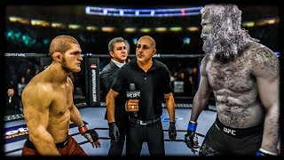 Khabib vs. Werewolf (EA Sports UFC 3) - K1 Rules
