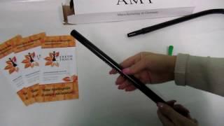 Шланг для кальяна силиконовый Amy Deluxe с тонким алюминиевым мундштуком, видеообзор 1