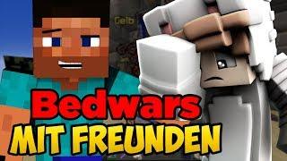 [MEGA WITZIG] Freunde spielen zum ERSTEN mal Minecraft! +Ich verzweifle | Minecraft Bedwars