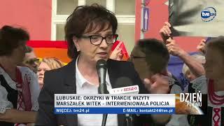 Protesty na wiecu Polskiego Ładu. Witek atakuje: Bierzecie pieniądze od rządu PiS i narzekacie!