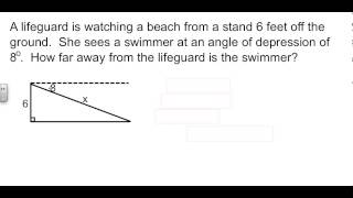 Geometry 8-5 Angles Of Elevation And Depression
