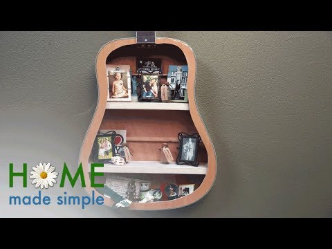 How to Turn a Guitar into a Unique Memory Box Display | Home Made Simple | Oprah Winfrey Network