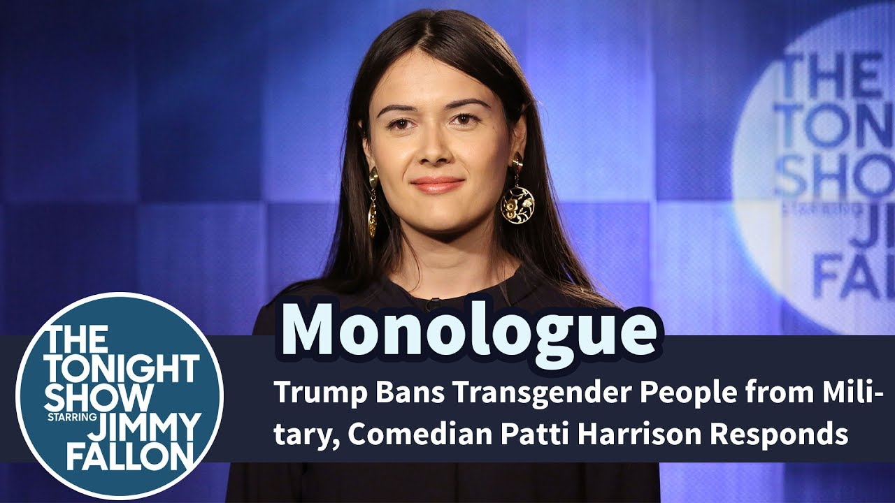 Trump Bans Transgender People from Military, Comedian Patti Harrison Responds - Monologue thumbnail