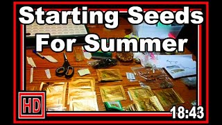 Starting Seeds For Summer - Wisconsin Garden Video Blog 930