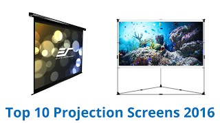 10 Best Projection Screens 2016