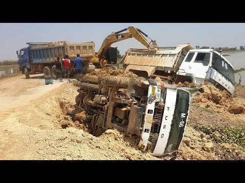Supreme Heavy Truck Recovery - ឡានដឹកដីក្រឡាប់ - 3way Rescuer, Dump Truck, Excavator, Bulldozer