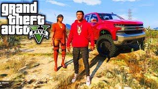 Franklin & Evelyn! GTA 5 Real Life Mod #1 (Real Hood Life 4)