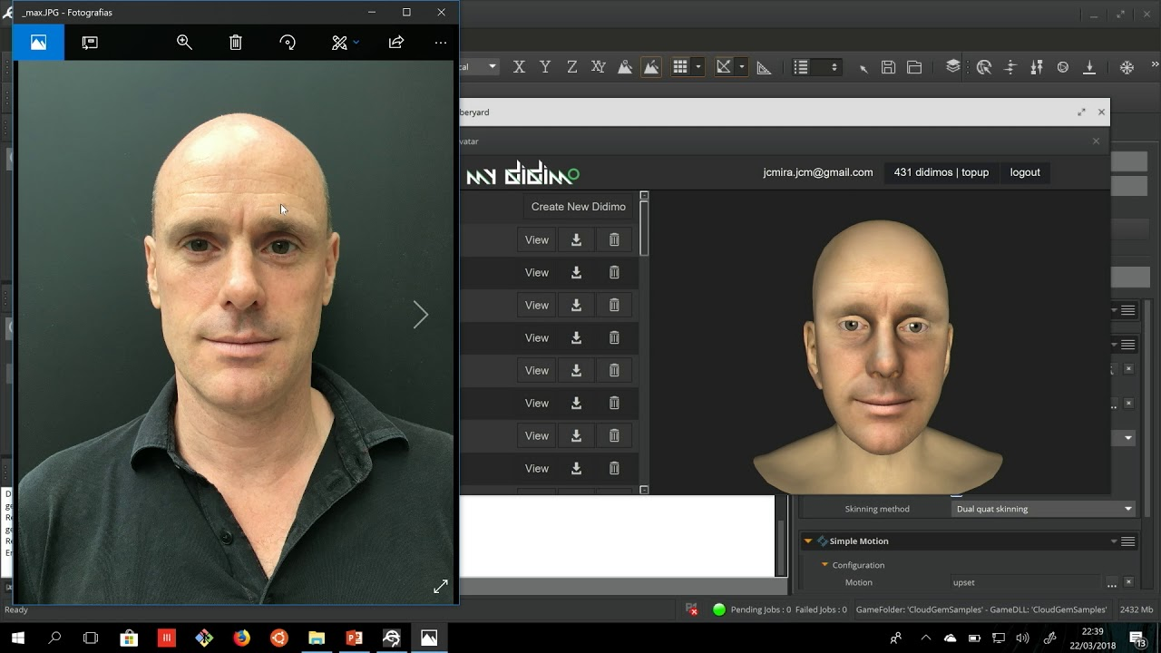 Lumberyard Gems: DIDIMO GEM: AUTOMATIC GENERATION OF 3D FACE MODELS IN LUMBERYARD