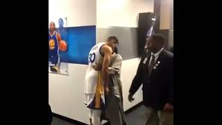 Stephen Curry and Ayesha Curry Postgame Love!