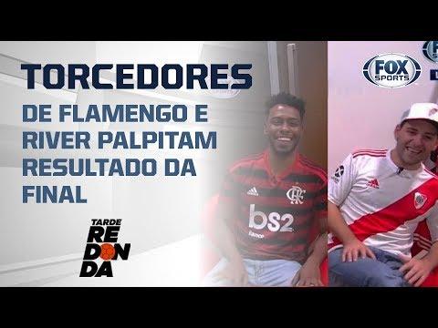 Torcedores de Flamengo e River palpitam resultado da final da Libertadores