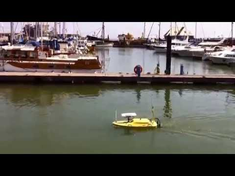 GeoSwath USV surveys Lowestoft Marina