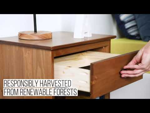 Video for Caramel One Drawer Nightstand