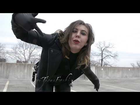 LEVITICUS FASHIONS BLACK LEATHER THIGH BOOTS AND LEATHER PANTS