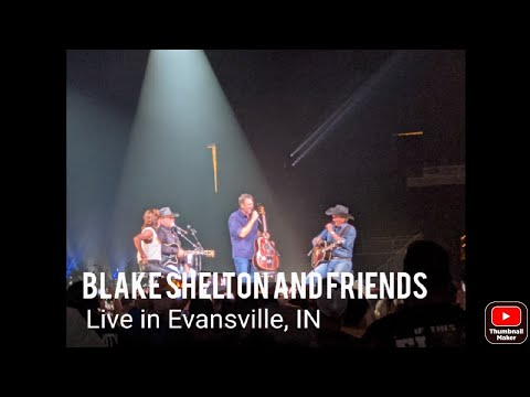 Blake Shelton with Tracy Byrd, Trace Adkins, and Martina McBride.