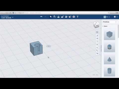 123D Design Online: Groups, Solids & Voids
