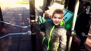 ДЕТСКАЯ ПЛОЩАДКА С ГОРКАМИ. Играем В МУСОРОВОЗ  Outdoor Playground for kids and Fun Activities
