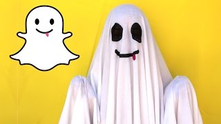 DIY Easy Halloween Costume: Snapchat Ghost || Lucykiins