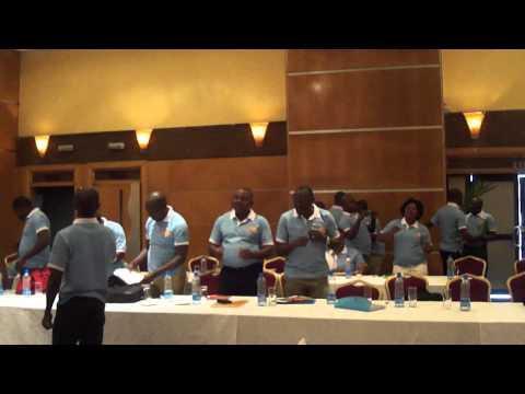 Pikin Nor de born Pikin dance by UNFPA Nigeria Country Office staff at retreat 2013