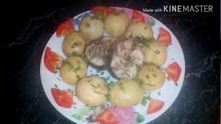 Готовим блюдо-дуэт в мультиварке. Картофель и рыбка скумбрия.