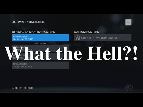 Nhl 16 Where Is The Roster Update Youtube