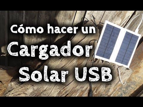 Cómo hacer un Cargador Solar USB Casero