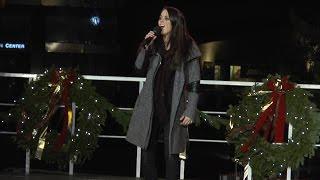 Boston Common - Tree Lighting - Angie Miller singing