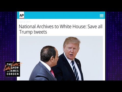 Trump's Tweets Preserved Forever