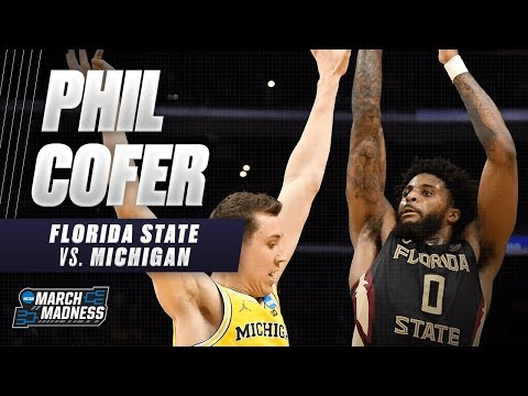 Florida State's Phil Cofer posts a double-double in the Elite 8